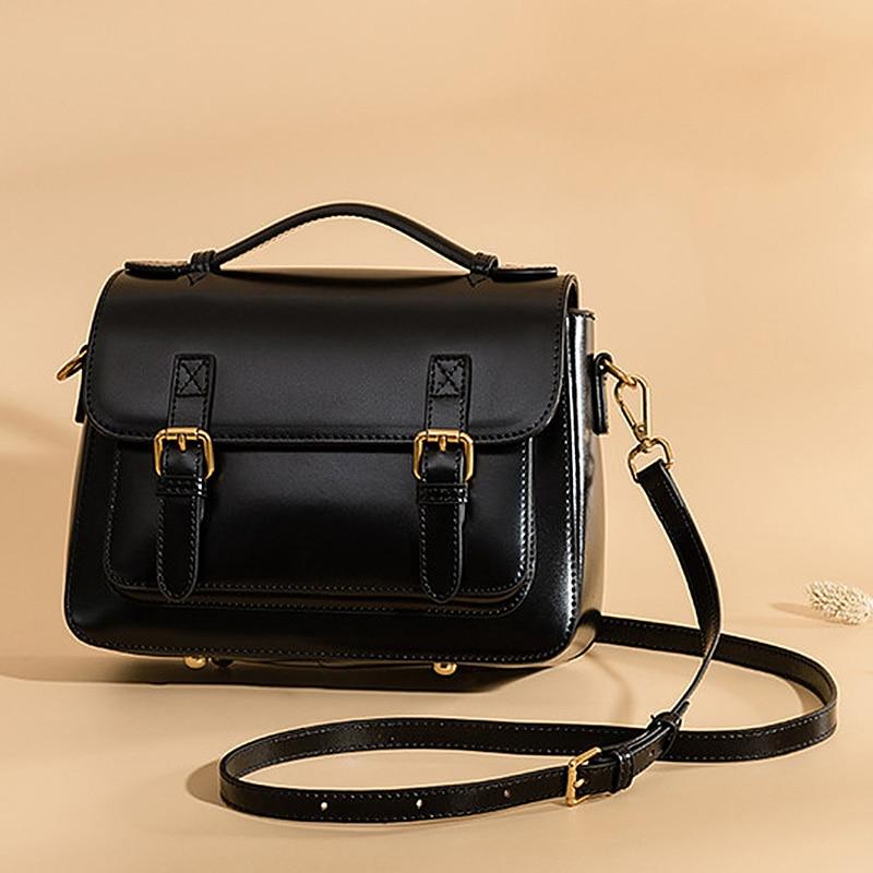 Bolsa de couro genuíno ocasional pequeno saco