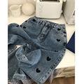 Женские джинсы весна-осень 2021 Новинка корейские повседневные Прямые брюки с вышивкой love узкие джинсы с высокой талией женские свободные B018