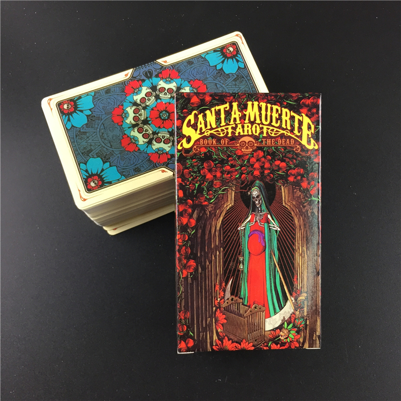 English Board Game Santa Muerte Tarot Cards Deck For Family Party Entertainment Cards Games