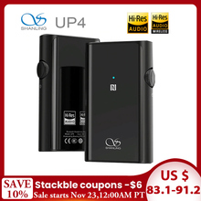 SHANLING UP4 Amplificatore Dual ES9218P DAC/AMP Amplificatore Per Cuffie Portatile HiFi CSR8675 Bluetooth 5.0 Equilibrata
