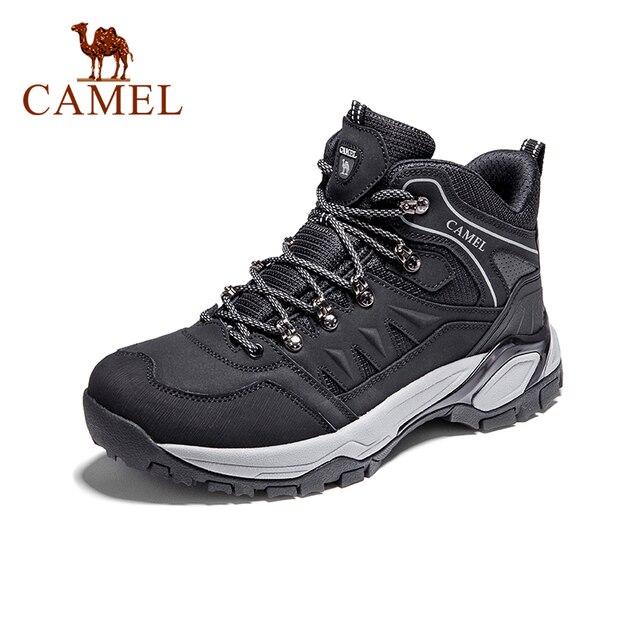 낙타 남성 하이킹 신발 등산 배낭 트레킹 부츠 야외 신발 안티 슬립 마운틴 전술 부츠 따뜻한 하이 탑 신발
