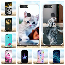 For Alcatel 1S Protective Case Ultra-slim Soft TPU Silicone Cover Cute Cat Patterned Bumper Shell