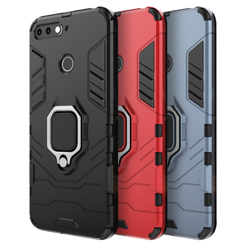 Phone <font><b>case</b></font> <font><b>for</b></font> <font><b>Huawei</b></font> <font><b>Y6</b></font> <font><b>Prime</b></font> <font><b>2018</b></font> <font><b>case</b></font> Shockproof Back Soft TPU Hybrid Magnetic Armor Ring <font><b>Cover</b></font> <font><b>for</b></font> <font><b>Huawei</b></font> <font><b>Y6</b></font> <font><b>Prime</b></font> <font><b>case</b></font> image