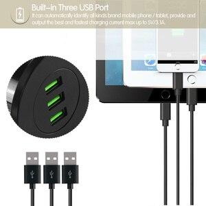 Image 5 - YASOKO 3 USB デスクトップ充電器 5V 3.1A オフィスホームデスク穴充電ステーションユニバーサル携帯電話充電器 Iphone oppo EU プラグ