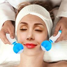 2 stücke/kit Schönheit Eis Hockey Gesichts Anziehen Energie Kalte Kompresse Haut Massage Handheld Kühlung Eis Ball Gesicht Haut pflege Gerät