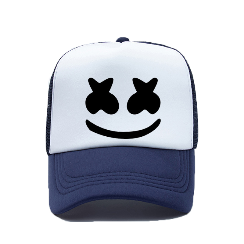 Marshmallow Baseball Cap Men Women Smiling Face Sunshade Hats Fashion DJ Bone Punk Style Hip Hop Outdoor Breathable Caps TG0104