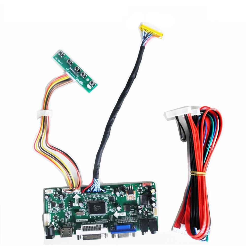 Bilgisayar ve Ofis'ten Tablet LCD'ler ve Paneller'de LCD denetleyici sürücü panosu kiti LM240WU2 SLB4 1920X1200 HDMI + DVI + VGA LCD led ekran kontrol kartı title=