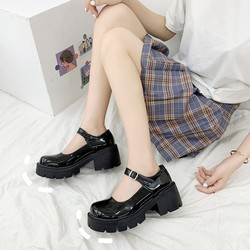 Patent leather wedge flat shoes Buckle Strap Round Toe summer outdoor casual ladies shoes student party shoes zapatos de mujer