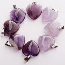 Großhandel 50 teile/los Mode Natürliche Amethysten Stein Verschiedene Form Perlen Anhänger DIY Schmuck Machen für Frauen Freies Shiping