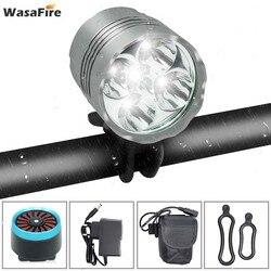 WasaFire 7000lm T6 led rowerowy przedni reflektor latarka rowerowa + 18650 akumulator + inteligentny czujnik hamulca USB tylna tylna lampa|Oświetlenie rowerowe|   -