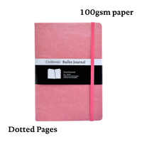 Dot Grid Bullet Journal Hard Cover Candy Color A5 PU Notebook Elastic Band Dotted BujoTravel Planner Diary