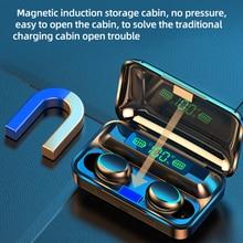 F9 TWS Bluetooth 5.0 Earphone Smart Touch 4500mAh Power Bank Mini Earbuds IPX7 Waterproof Headphone with Mic