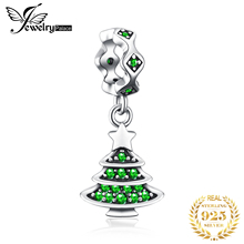 JewelryPalace Christmas Tree 925 Sterling Silver Bead Charms Original For Bracelet original Jewelry Making