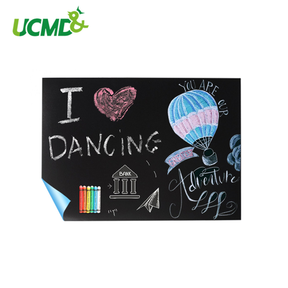 Self-Adhesive Blackboard Stickers Removable Vinyl Kids Graffiti Writing Blackboard Learning Teaching Office Chalk Board 40x30cm