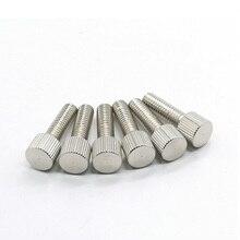 M5--5/6/8-/.. Thumb-Screw Hand-Tighten Flat-Head Nickel-Plated Knurled 10pcs M3 M4