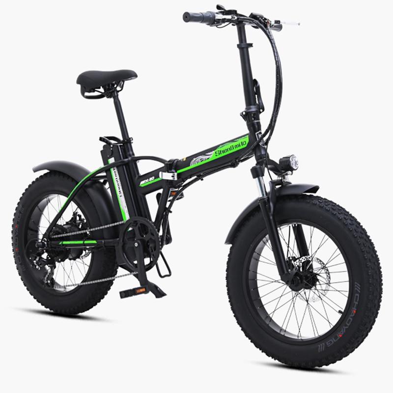 20 Дюймов 48 в электрический велосипед 500 Вт Мотор Снежный жир электровелосипед складная рама 48В 15ач литиевая батарея FAT tire Электрический горн... - 2