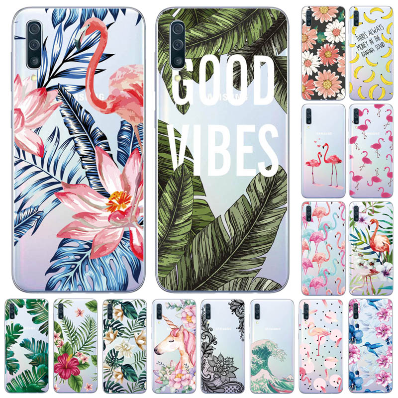 For Samsung Galaxy A50 Case Silicon Transparent Back Cover Phone Case For Samsung A50 A505 A505F SM-A505F Soft Case 6.4 Inch