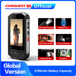 2020 CONQUEST F2 Mini IP68 Waterproof NFC Rugged Mobile Phone celular Fingerprint Android Cheap Cell phone Cellphone Smartphone