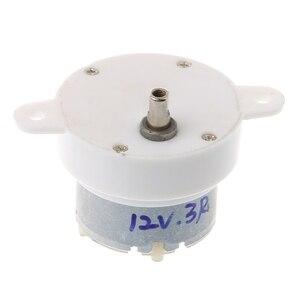 Cc 12V 3 RPM, cilindro de alta torsión, Micro Motor eléctrico, caja de engranajes, Motor silencioso de reducción lenta