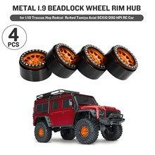 4 pçs metal 1.9 beadlock roda aro hub para 1/10 traxxas hsp redcat rc4wd tamiya axial scx10 d90 hpi carro rc peça de reposição