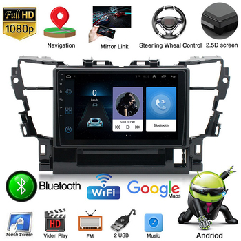 For Toyota Alpha 2015 Navigation 2 Din 1+16G Android 9.1 Car Radio 10 HD Autoradio Multimedia Player Touch Screen Auto Audio image