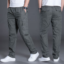 2020 thick straight pants large-size loose work pants men's