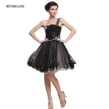 Платье на Одно Плечо из тюля милое черное платье большого размера