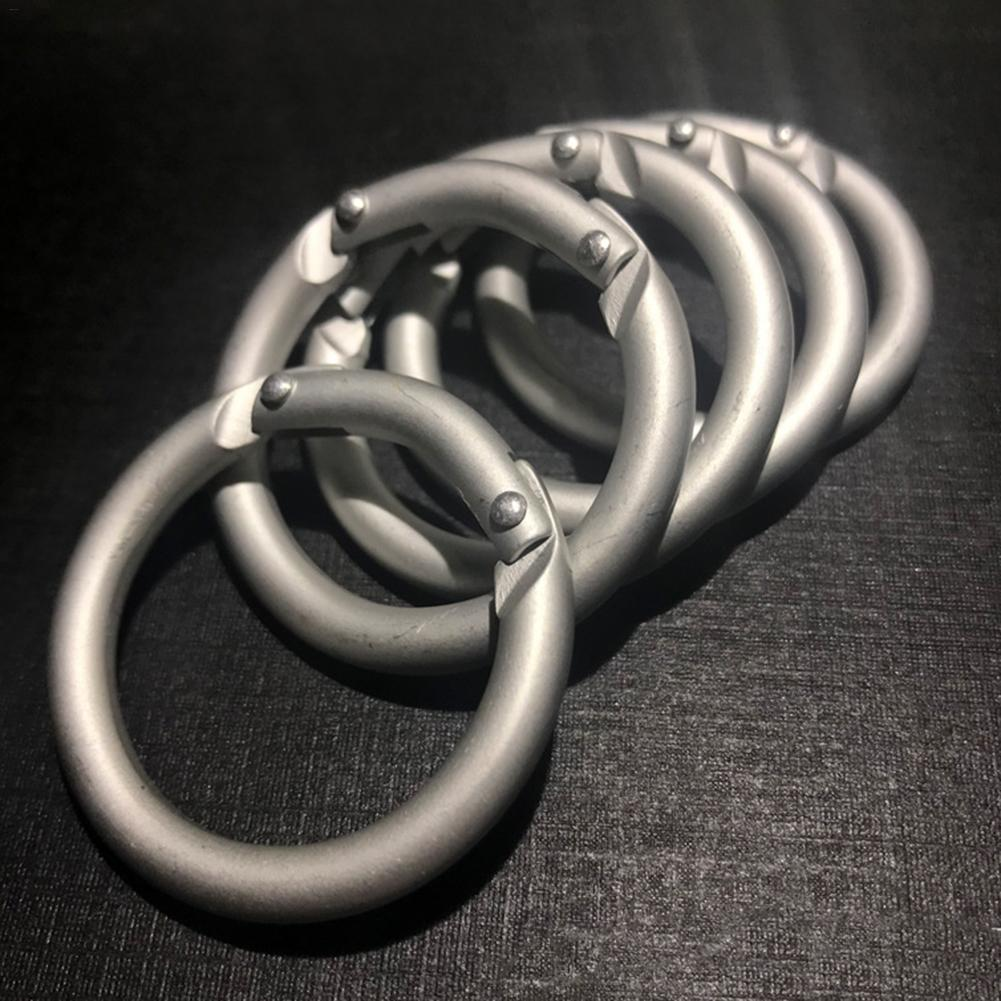 10/20pc Round Carabiner Aluminum Alloy Carabiner Spring Loaded Gate Clips Hook Ring Buckle For Mountaineering Hiking Supplies
