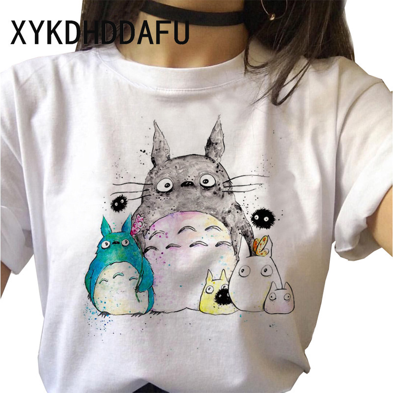 He9777e69b79e43d2a72e0a3ee37a4ee3H - Totoro T Shirt Women Kawaii Studio Ghibli Harajuku Tshirt Summer Clothes Cute Female ulzzang T-shirt Top Tee japanese Print