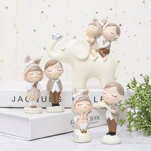 Cute Figures Boy and Girl Couple DIY Mini Fairy Doll Couple Gift Figurines Miniature Lovers Concerto Decoration new1-(China)
