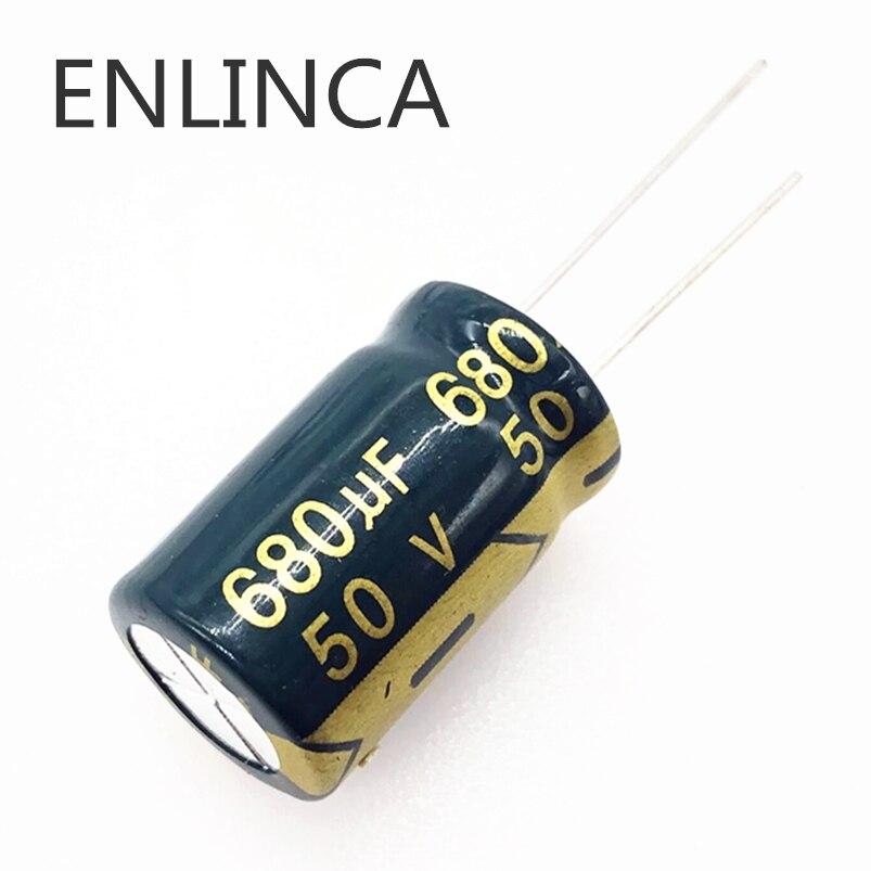4pcs/lot H206 50V 680UF Aluminum Electrolytic Capacitor Size 13*20 680UF 20%