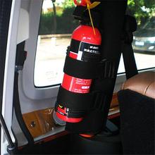 Bagażnik samochodowy zawartość sklepu torba szybki uchwyt na gaśnicę pas bezpieczeństwa zestaw gaśnica samochód magiczne taśmy tanie tanio CN (pochodzenie) NYLON