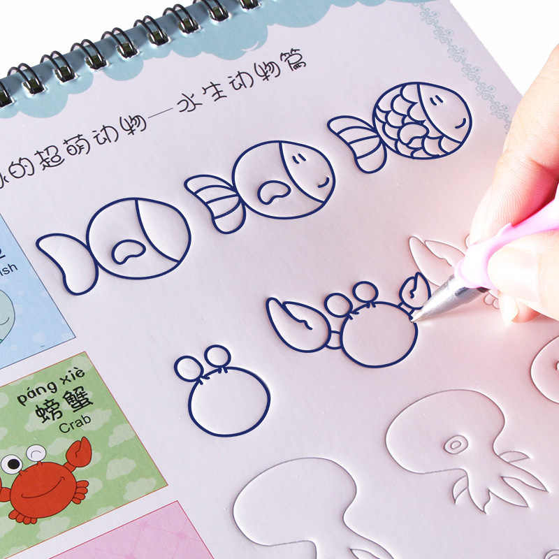 Kreatif Alur Hewan Sayur Tanaman Kartun Menggambar Buku Mewarnai Buku Untuk Anak Anak Anak Anak Melukis Buku Usia 3 9 Tahun Supply Seni Fotografi Aliexpress
