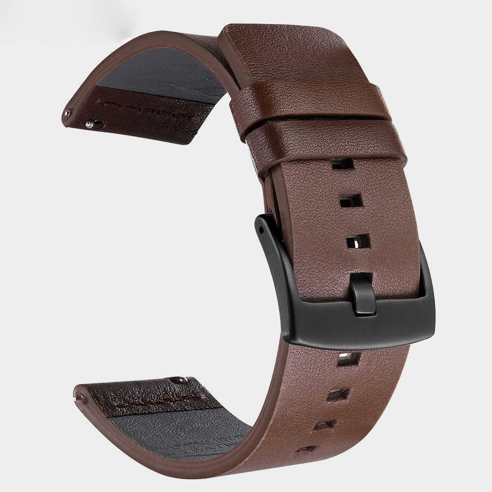 革ストラップ huawei 社腕時計 gt 2 42 46 サムスンギア S3 銀河時計 46 ミリメートルバンド 22 ミリメートル huami amazfit bip gts gtr 42 47 smartwath