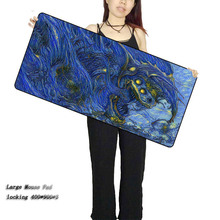 Laumans900*400*3mm Large Gaming Mouse pad XL big game mousepad keyboard desk mat Blue CSGO Dragon Hyper Beast Gamer mouse