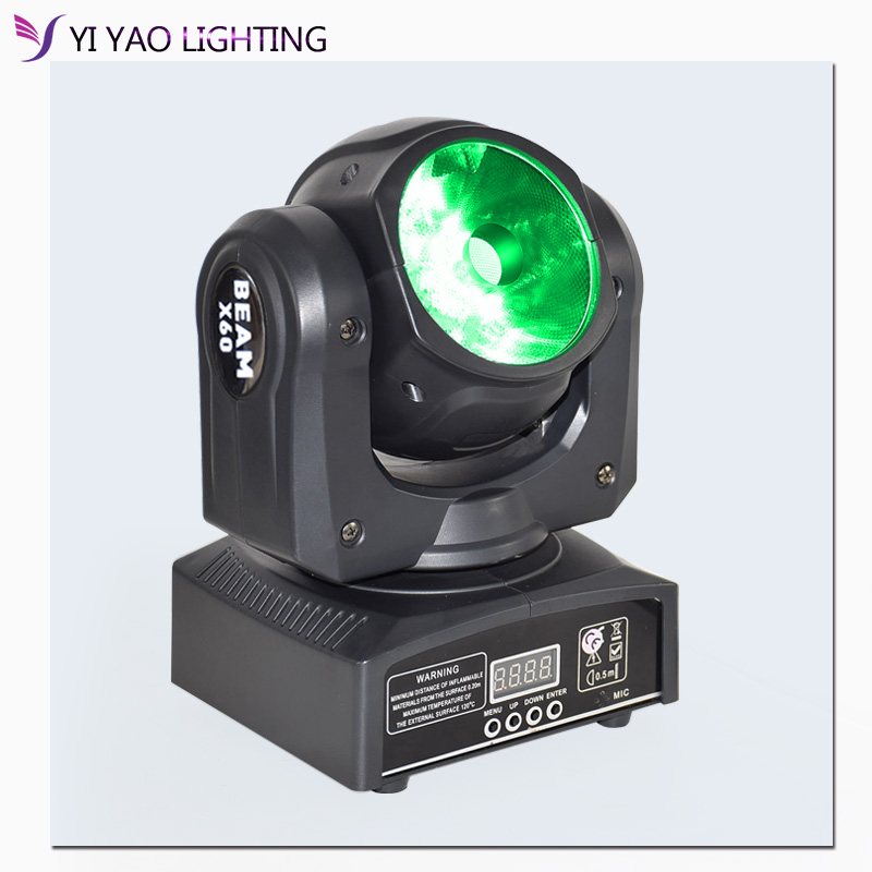 Moving Head 60w Beam Light RGBW 4in1 With Dmx-512 Led Stage Lights For Party Club Dj Lighting
