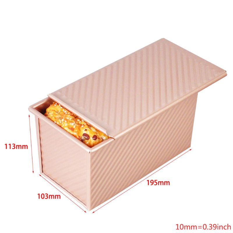 Loaf Pan with Lid Toast Mold Bread Pan Pullman Loaf Pan with Cover Bread Toast Pan|  -