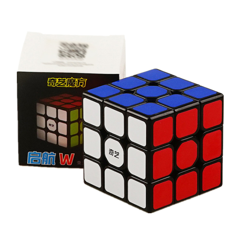 Qiyi QiHang Sail W 3x3 Puzzle Speed Magic Cube Toys For Kids Intelligence Education 3x3x3 Cubo Magico Toys Black White Sticker 7