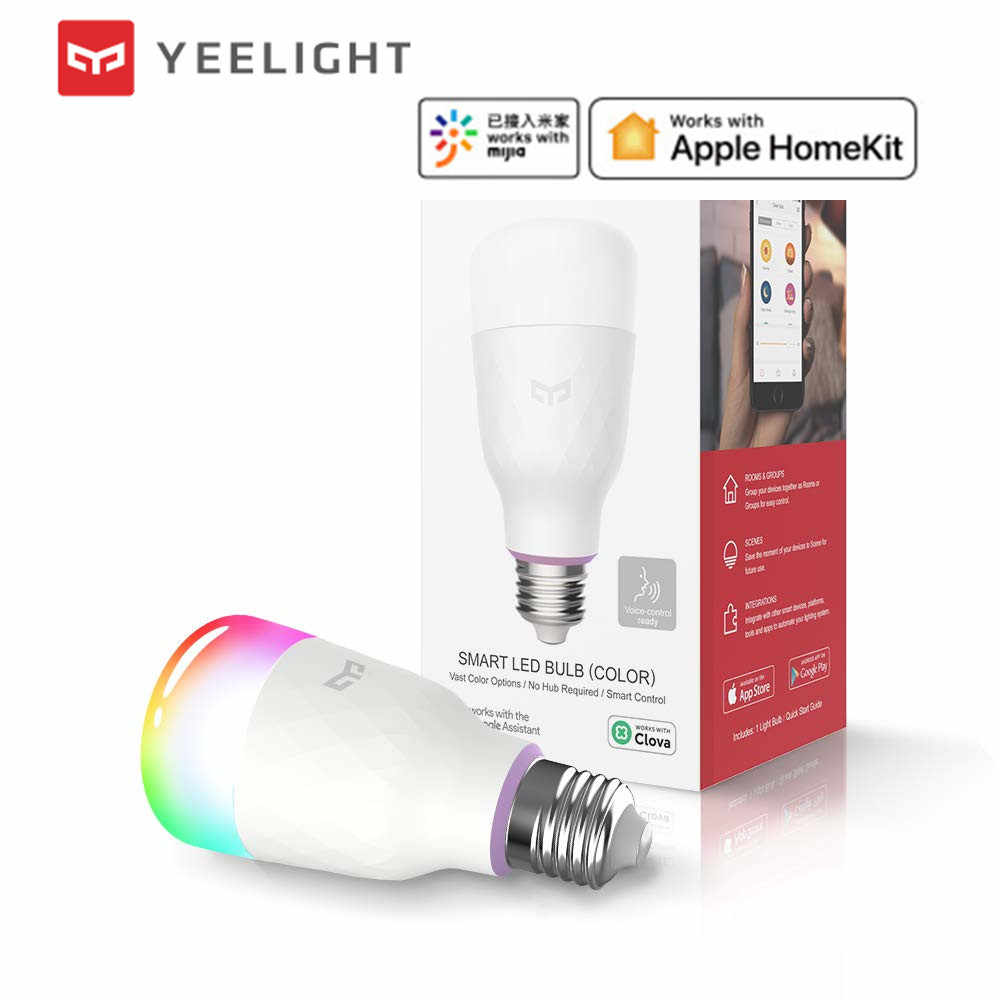 (2019 Update version) Xiaomi mijia yeelight smart LED bulb colorful 800 lumens 10W  Lemon Smart bulb Work with Apple homekit