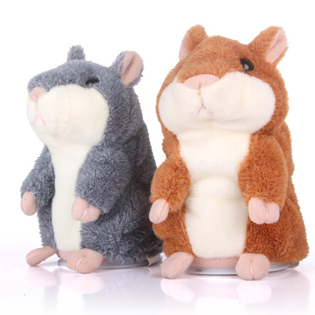 New Talking Hamster Mouse Pet Plush Toy Hot Cute Speak Talking Sound Record Hamster Educational Toy For Children Gifts 15cm