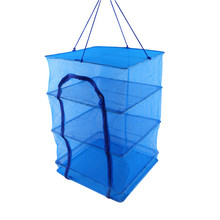 Folding Fish Network Net Red Drying Rack Foldable Mesh Hanging Vegetable Dishes Dryer Hanger Fishing Accessories(China)