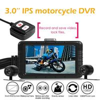 Dual Lens Full HD 1080P and 720P Motorcycle DVR Dashcam 3.0 Inch LCD Display HDR Function Waterproof Action Camera New Arrival