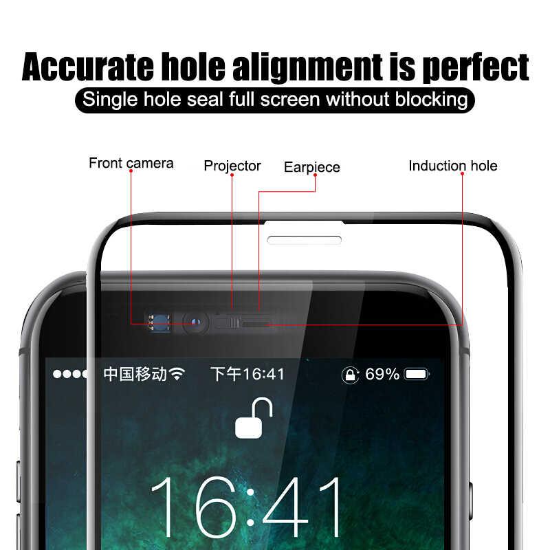 999D Tempered Kaca Pelindung Di UNTUK iPhone 11 Pro Max 7 X XR Pelindung Layar untuk iPhone 7 8 6 6 S Plus X Max 11 Pro Kaca