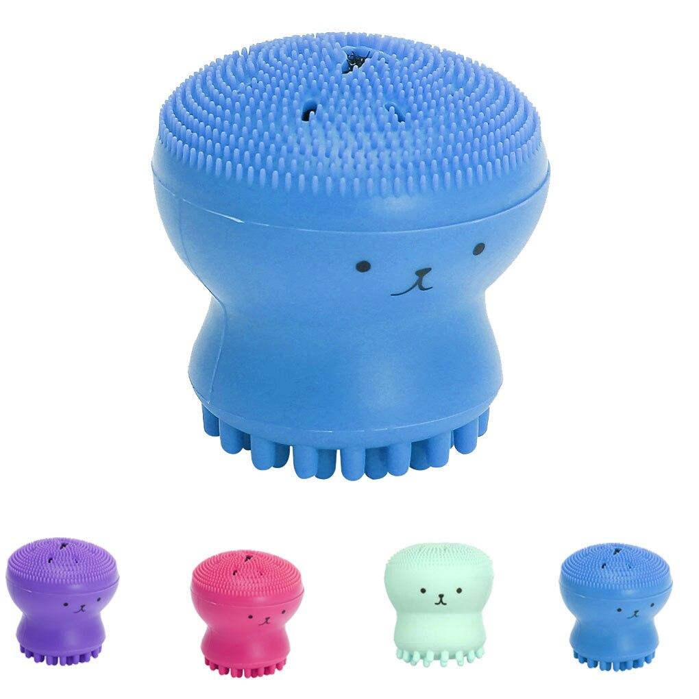 Hot Sale 1pc Cartoon Cute Facial Cleansing Exfoliator Cute Silica Gel Massage Deep Cleaning Face Brush Cleanser