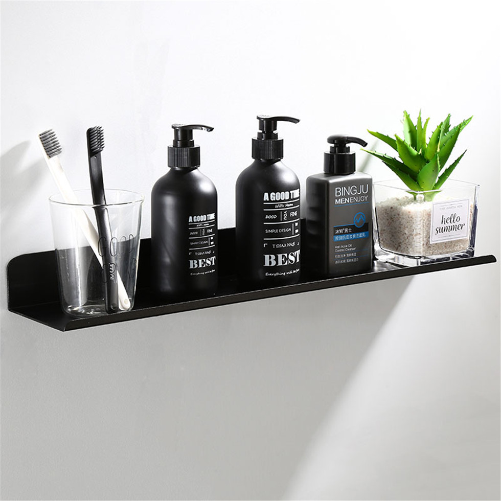 Black Bathroom Shelves Shower Bathing Storage Holder Kitchen Organizer Rack Shampoo Shower Caddy Rack Bathroom Accessories