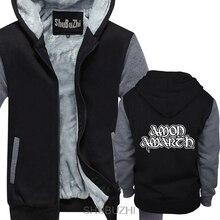 Толстые толстовки со скидкой, зимнее теплое пальто для мужчин Amon Amarth-Blood Eagle, худи черного цвета, европейский размер sbz4114