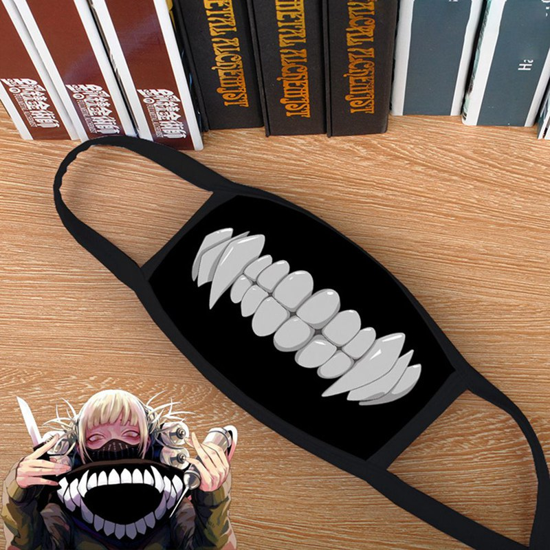 Boku No My Hero Academia Himiko Toga Cosplay Mask Dustproof Mouth Face Mask title=