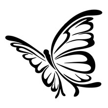 15*13.7cm adorável engraçado borboleta vinil janela do carro portátil decalque estilo do carro adesivos decalque moderno