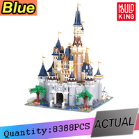 The Disneys Cinderella Princess Castle Compatible Lepining 16008 City friend 71040 Model Building Blocks Bricks Educational Toys