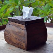Tissue Box Paper Rack Wood Storage Tissue Box Home Rectangle Tissue Box Container Towel Napkin Tissue Dispenser Organizer Holder